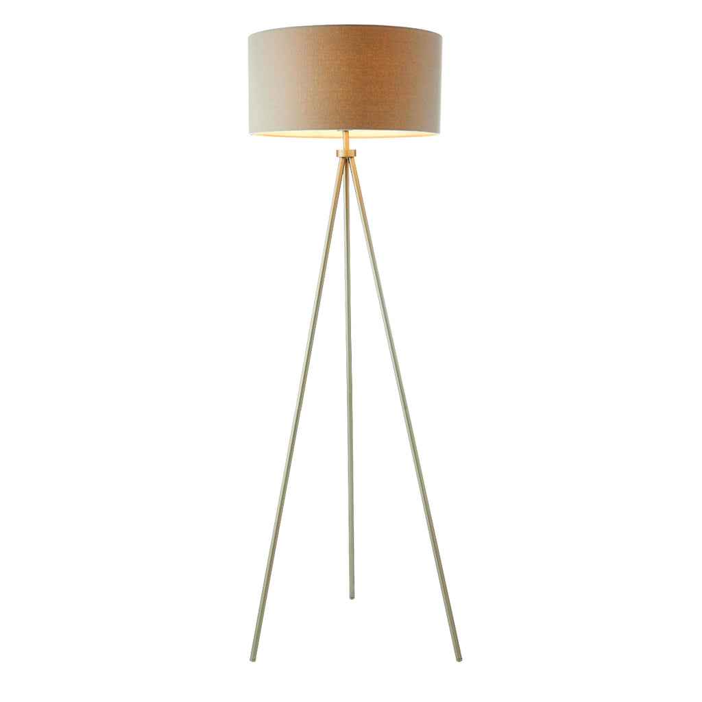 Endon Lighting 66987 Tri floor Single Light Floor Lamp Matt Nickel Finish