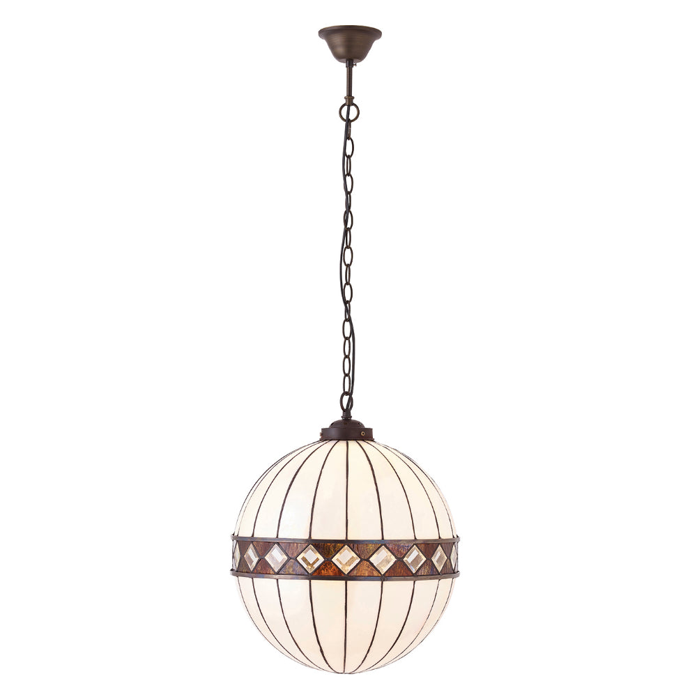 Fargo Medium Globe Single Light Tiffany Pendant Ceiling Light