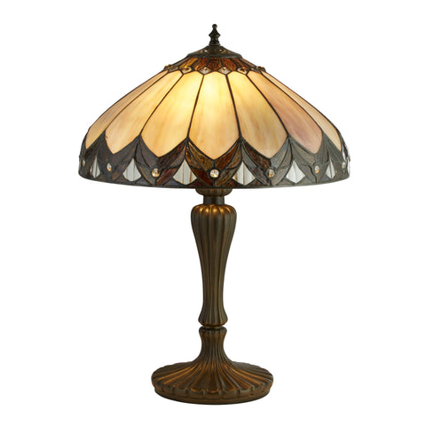Searchlight 6705-40 Pearl 2 Light Tiffany Table Lamp 56cm