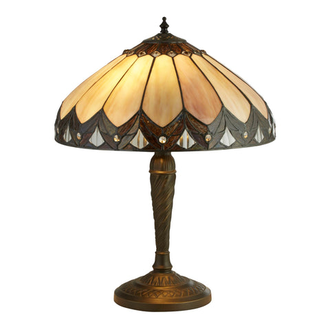 Searchlight 6706-40 Pearl 2 Light Tiffany Table Lamp 53cm