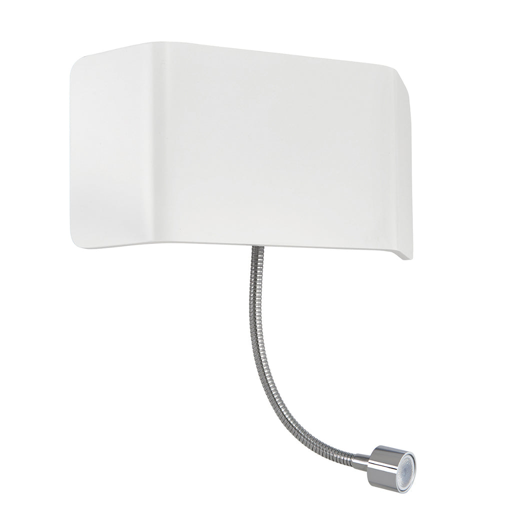 Endon Lighting 67086 Verona Wall & Flexi Matt White Switched Wall Light