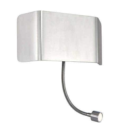 Endon Lighting 67087 Verona Wall & Flexi Polished Aluminium Switched Wall Light