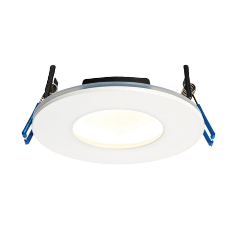 Saxby Lighting 69880 OrbitalPLUS IP65 LED Recessed Light Matt White Finish Warm White