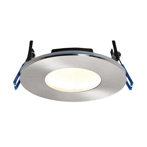 Saxby Lighting 69881 OrbitalPLUS IP65 LED Recessed Light Satin Nickel Finish Warm White