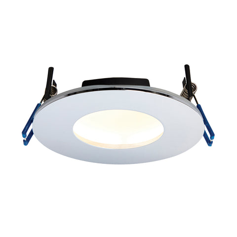 Saxby Lighting 69882 OrbitalPLUS IP65 LED Recessed Light Chrome Finish Warm White
