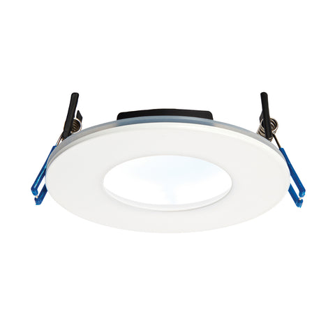 Saxby Lighting 69883 OrbitalPLUS IP65 LED Recessed Light Matt White Finish Cool White