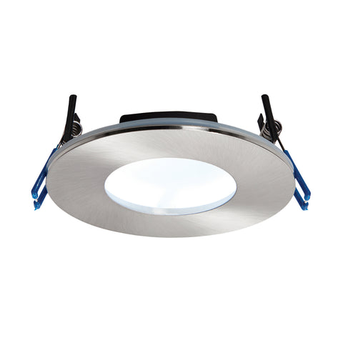 Saxby Lighting 69884 OrbitalPLUS IP65 LED Recessed Light Satin Nickel Finish Cool White