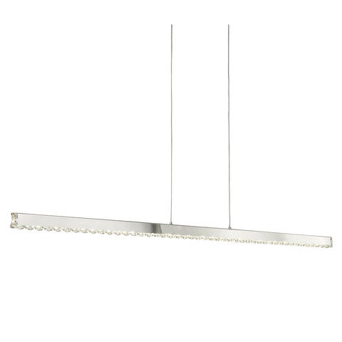 Searchlight 7005CC Clover Straight Bar Chrome And Crystal Pendant Ceiling Light