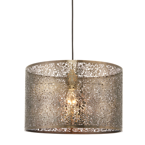 Endon Lighting 70104 Secret Garden Single 40cm Easy Fit Pendant Shade Antique Brass Finish