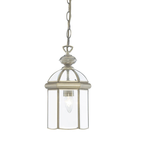 Searchlight 7131AB 1 Light Ceiling Lantern Antique Brass Finish