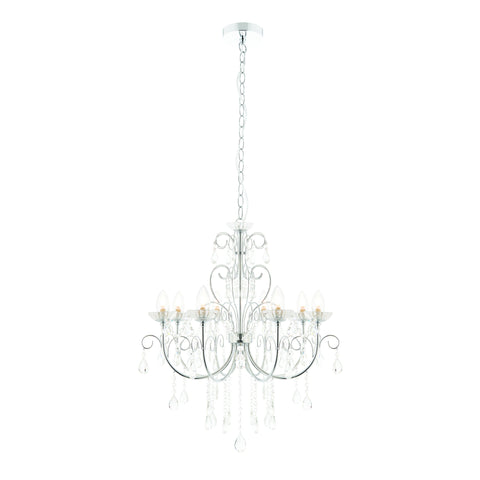 Endon Lighting 72561 Tabitha 8 Light Polished Chrome & Crystal Chandelier