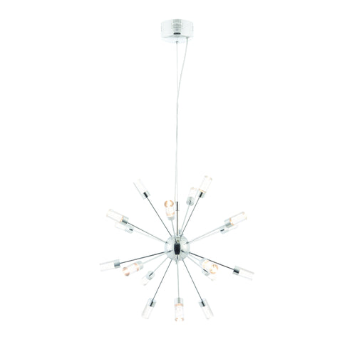 Endon Lighting 73046 Glacier 18 Light LED Pendant Chrome Finish