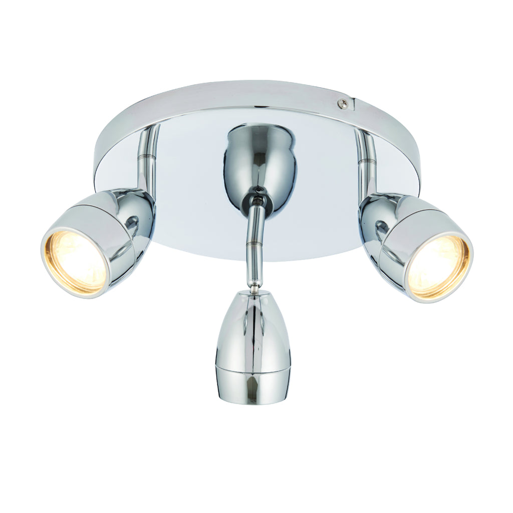 Endon Lighting 73692 Porto 3 Light Polished Chrome Spotlight