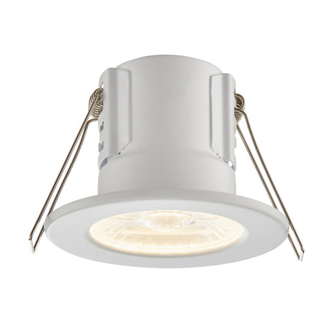 Saxby Lighting 73785 ShieldECO 500 IP65 LED Recessed Light Matt White Finish Warm White