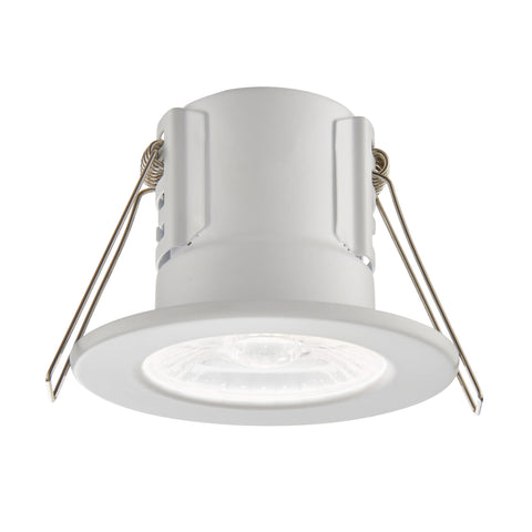 Saxby Lighting 73786 ShieldECO 500 IP65 LED Recessed Light Matt White Finish Cool White