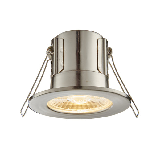 Saxby Lighting 73787 ShieldECO 500 IP65 LED Recessed Light Satin Nickel Finish Warm White
