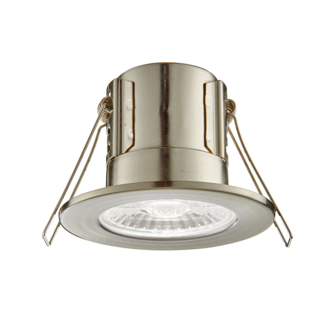 Saxby Lighting 73788 ShieldECO 500 IP65 LED Recessed Light Satin Nickel Finish Cool White