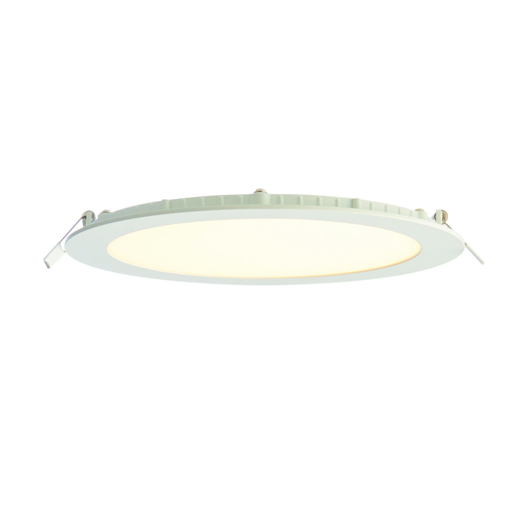 Saxby Lighting 73812 SiroDISC 18w LED Recessed Light Matt White Finish Warm White