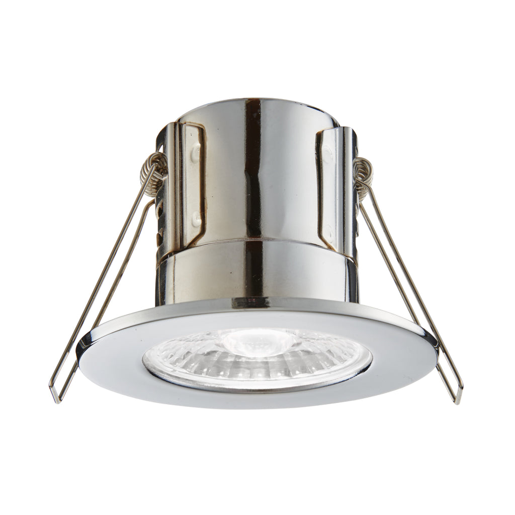 Saxby Lighting 74032 ShieldECO 500 IP65 LED Recessed Light Chrome Finish Cool White
