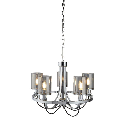 Searchlight 9045-5CC Catalina 5 Light Chandelier Chrome Finish