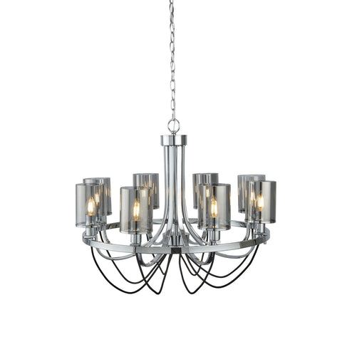 Searchlight 9048-8CC Catalina 8 Light Chandelier Chrome Finish