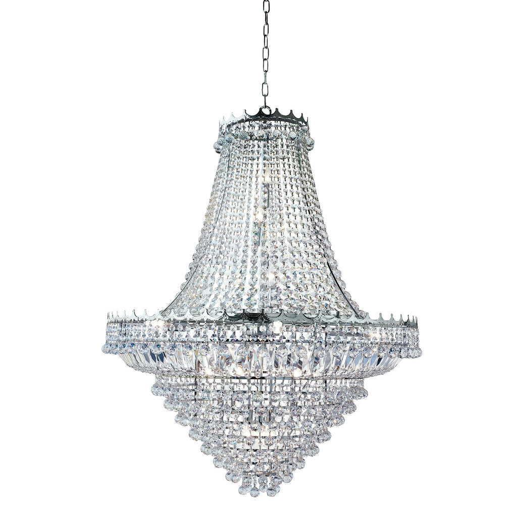 Searchlight 9112-102CC Versailles 19 Light Polished Chrome Chandelier Trimmed With Crystal