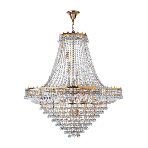 Searchlight 9112-102GO Versailles 19 Light Gold Chandelier Trimmed With Crystal