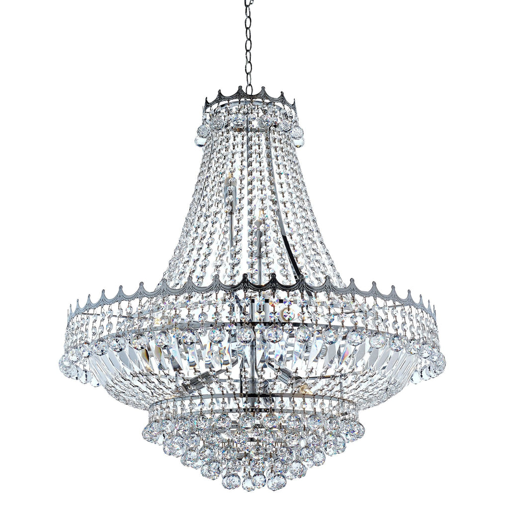 Searchlight 9112-82CC Versailles 13 Light Chrome Chandelier Trimmed With Crystal