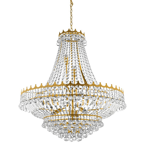 Searchlight 9112-82GO Versailles 13 Light Gold Chandelier Trimmed With Crystal