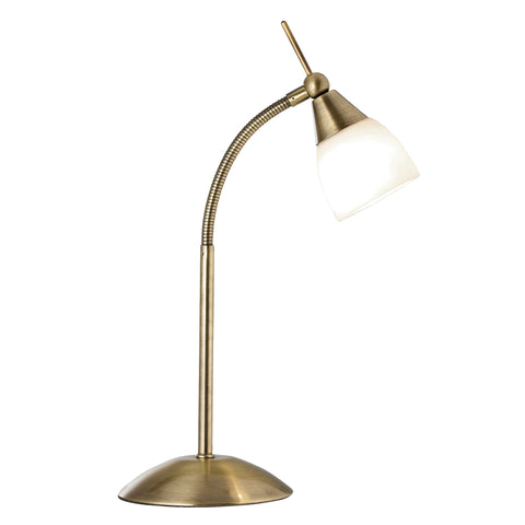 Searchlight 9961AB Antique Brass Touch Activated Table Lamp