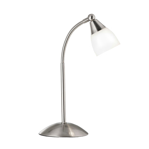 Searchlight 9961SS Satin Silver Touch Activated Table Lamp
