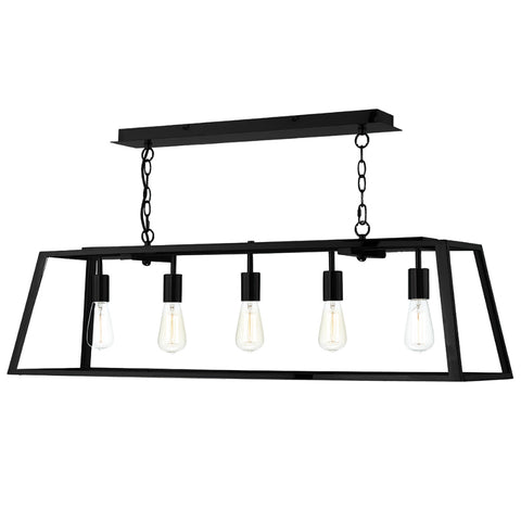 där Lighting ACA0522 Academy 5 Light Black Pendant Ceiling Light