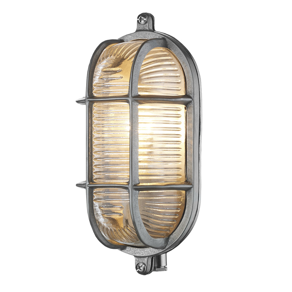 David Hunt Lighting ADM5238 Admiral Single Light Nickel Small Oval Wall Light