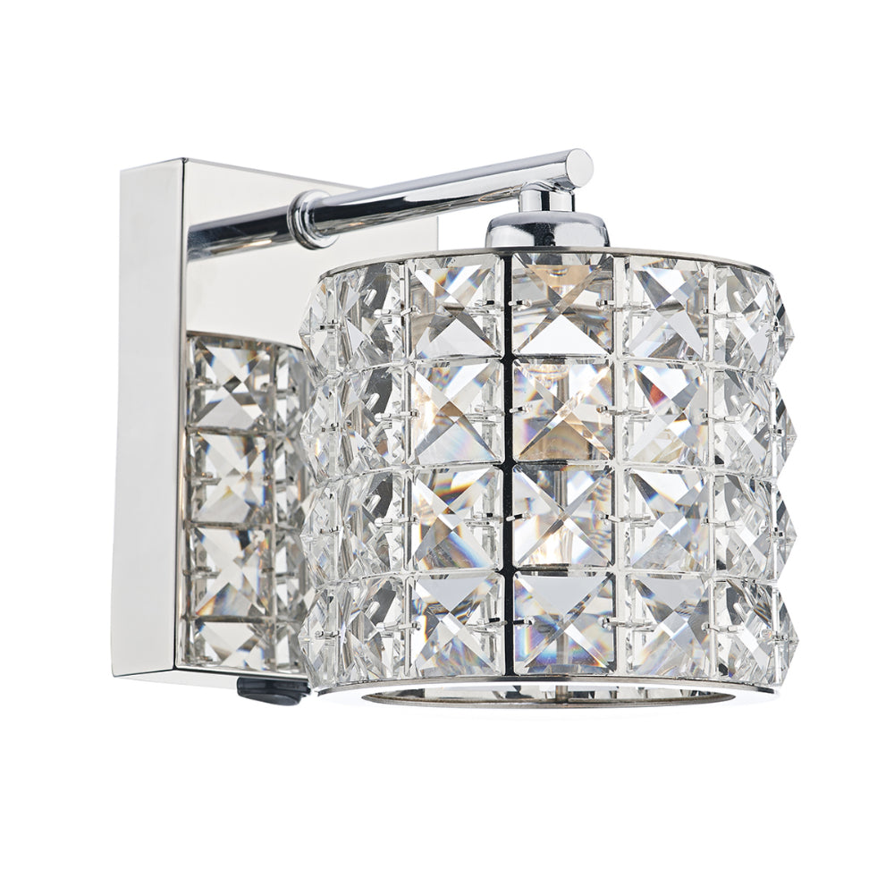 där Lighting AGN0750 Agneta Single Light Polished Chrome Switched Wall Light