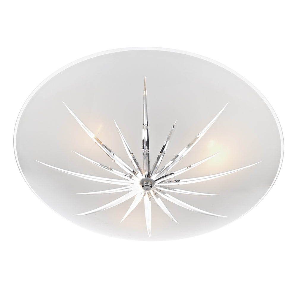 där Lighting ALB532 Albany 3 Light Frosted Glass Semi-Flush Ceiling Light
