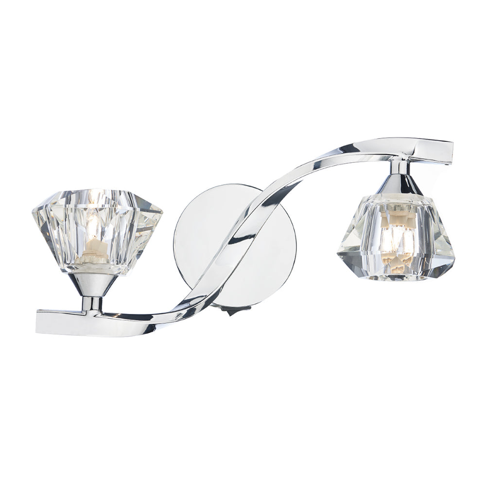 där Lighting ANC0950 Ancona 2 Light Polished Chrome Switched Wall Light