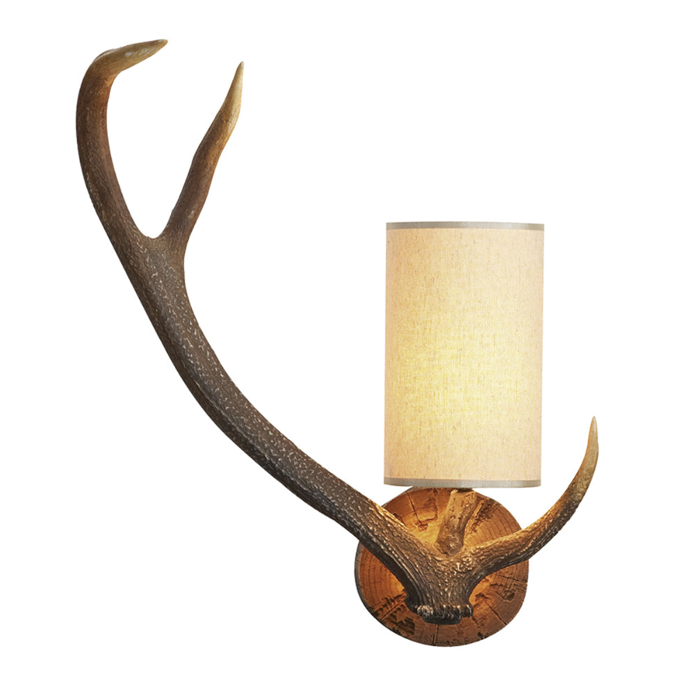 David Hunt Lighting ANT0729L Antler Single Light Highland Rustic Left Hand Wall Light