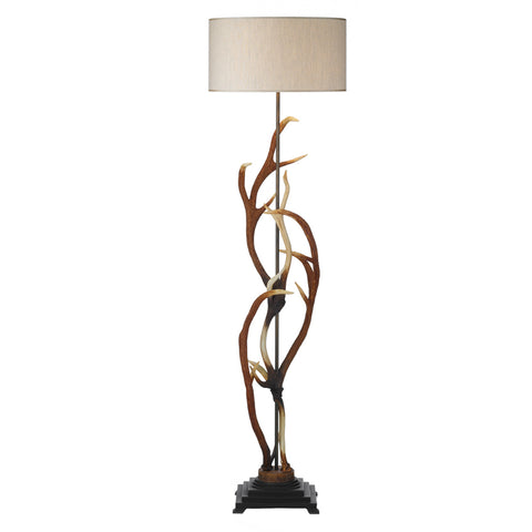 David Hunt Lighting ANT4929 Antler Single Light Highland Rustic Floor Lamp