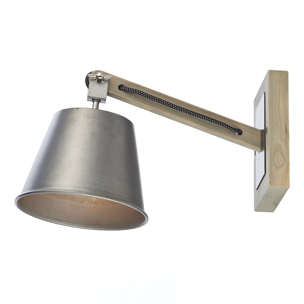 där Lighting ARK0748 Arken Single Light Grey Wall Light