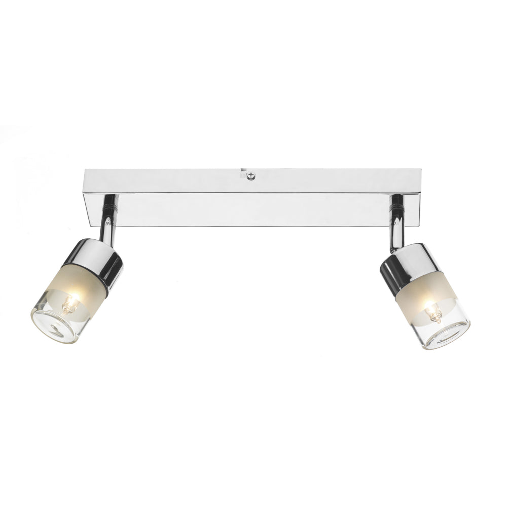 där Lighting ART7750 Artemis 2 Light Polished Chrome Wall Spotlight