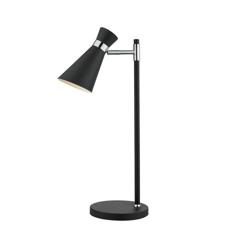 där Lighting ASH0722 Ashworth Single Light Black & Polished Chrome Switched Wall Light