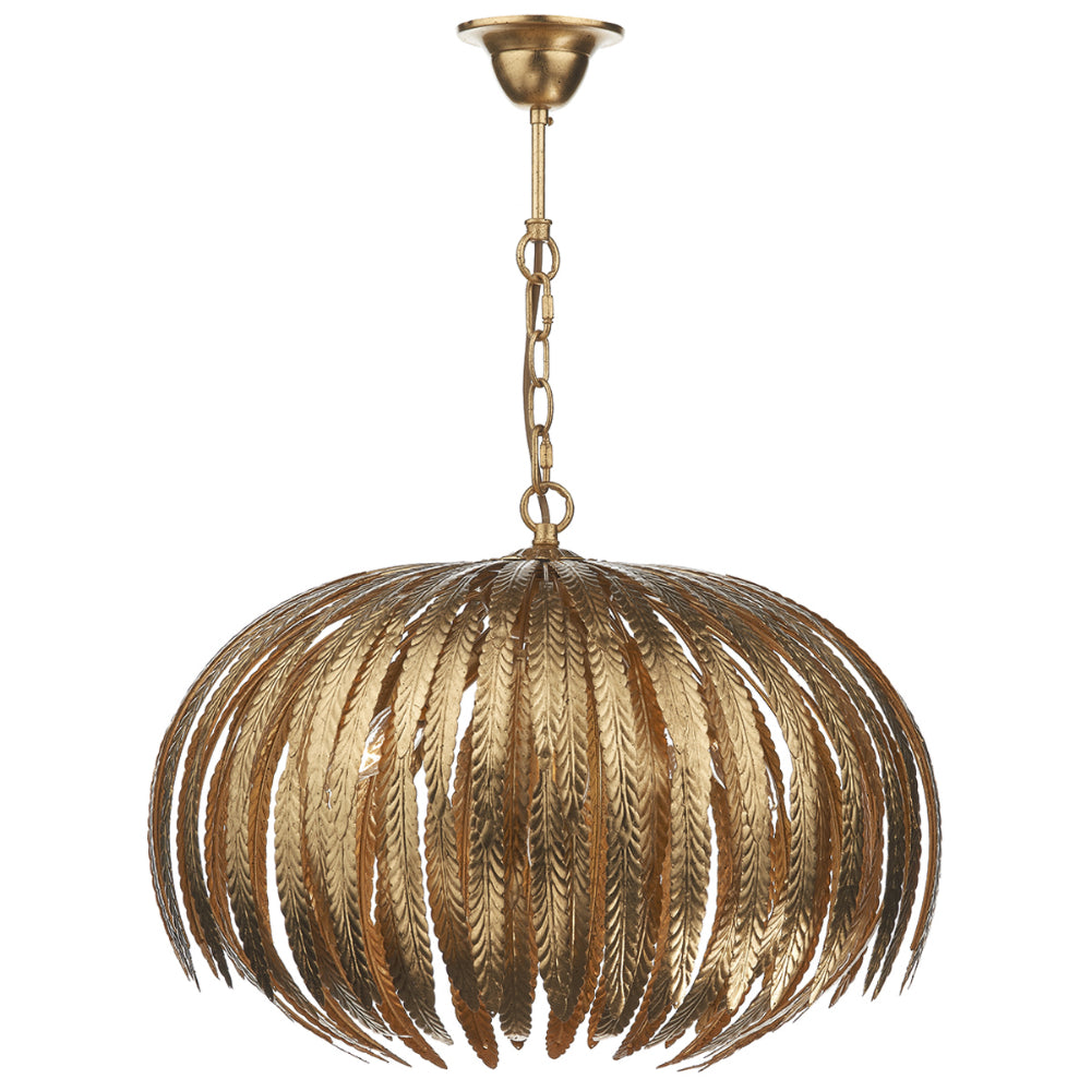 där Lighting ATT0535 Atticus 5 Light Gold Leaf Pendant Ceiling Light