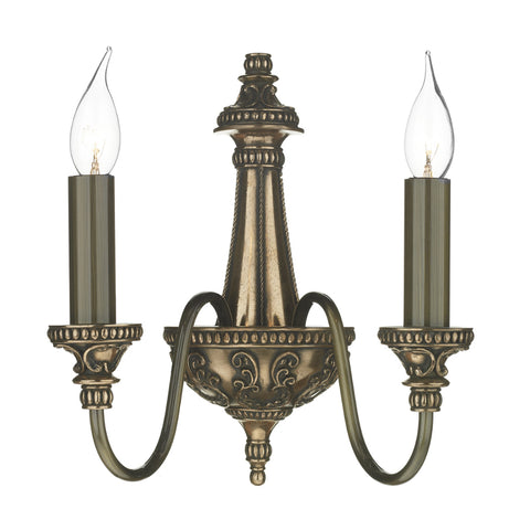 David Hunt Lighting BAI0963 Bailey 2 Light Bronze Wall Light