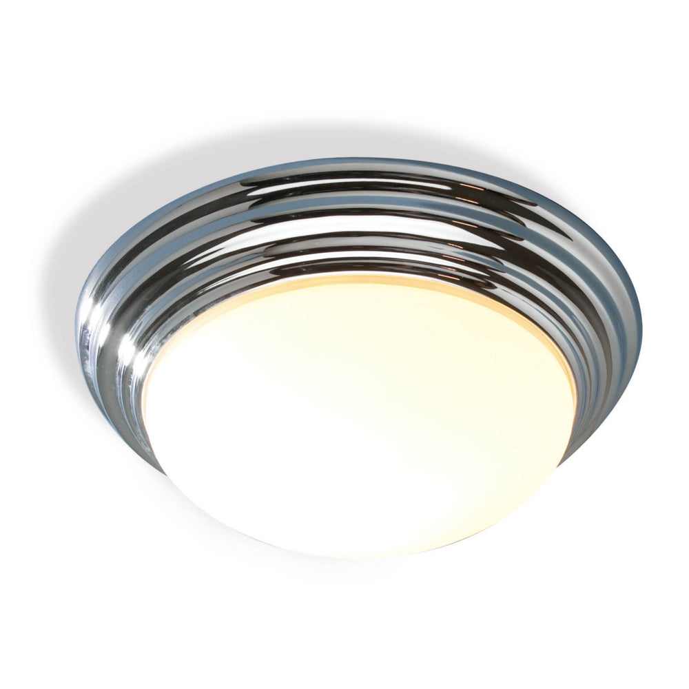 där Lighting BAR5050 Barclay Single Light Polished Chrome Large Flush Ceiling Light