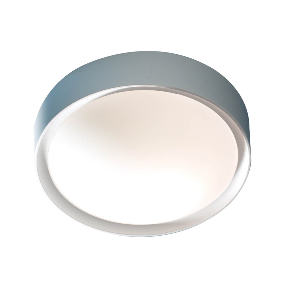 där Lighting BET52 Beta Single Light Acrylic And Glass Flush Ceiling Light