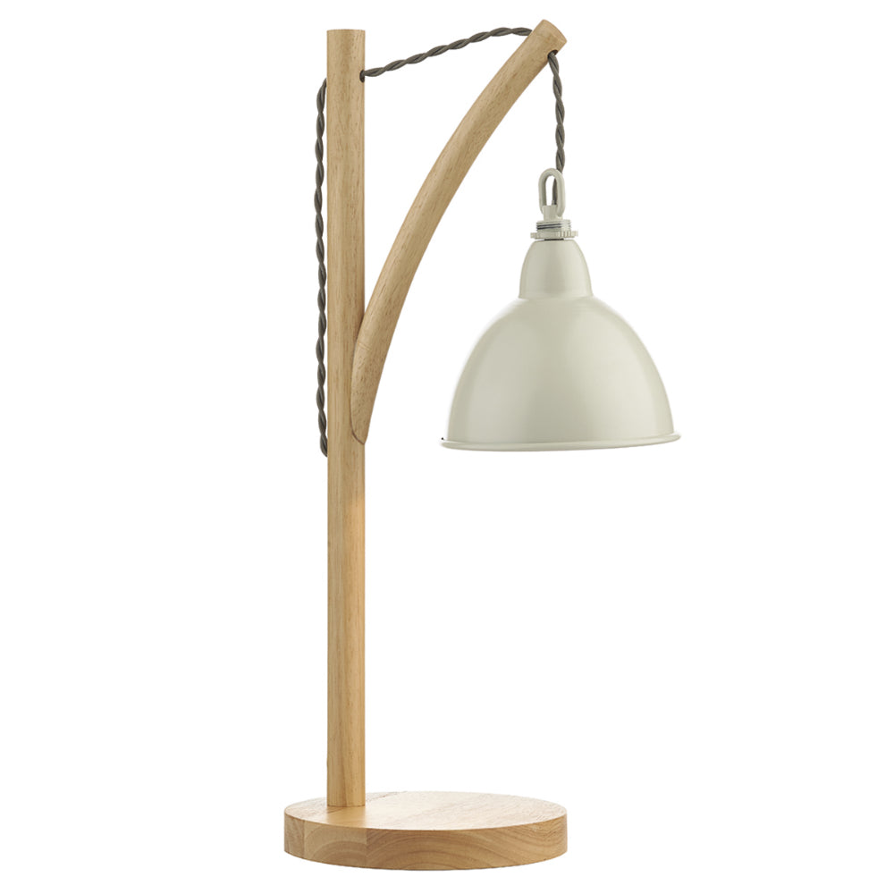 där Lighting BLY4243 Blyton Light Wood And Cream Table Lamp