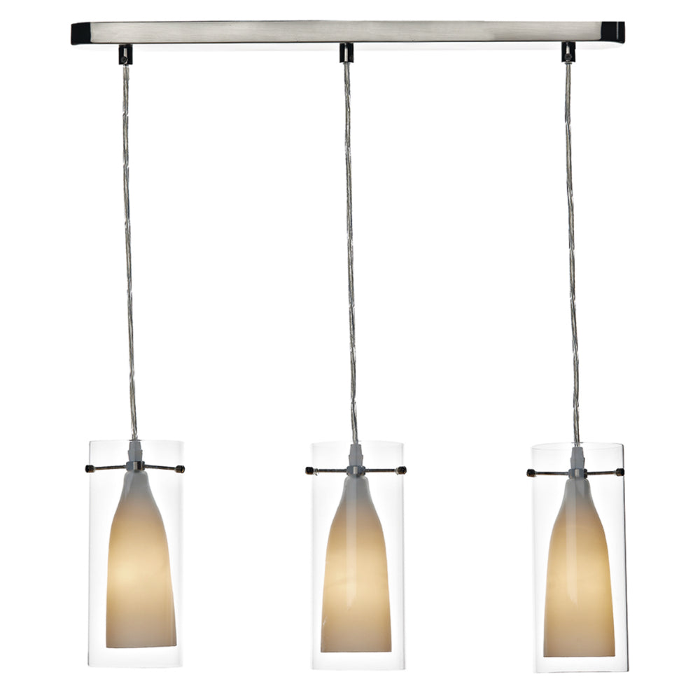 där Lighting BOD0346 Boda 3 Light Polished Chrome Bar Pendant Ceiling Light