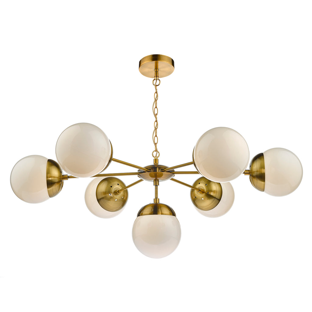 där Lighting BOM3435 Bombazine 7 Light Brass Pendant Ceiling Light