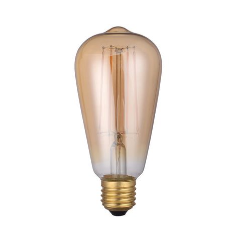 E27 8W LED Filament ST64 Bulb Tinted 2200k Warm White Dimmable