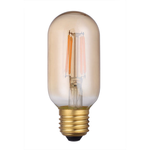 där Lighting BUL-E27-LEDV-8 Vintage Valve LED 4w 250 Lumens Dimmable Gold (Pack Of 5)